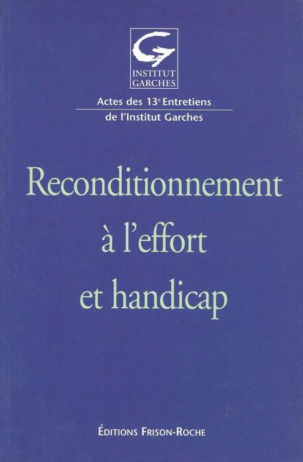 Reconditionnement à l'effort et handicap - Jean-Marie Casillas - Editions Frison-Roche